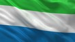 Flag of Sierra Leone waving in the wind - seamless loop