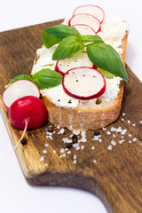 real food rustic radish bread cottage