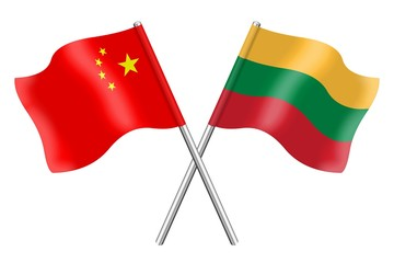 Flags : China and Lithuania