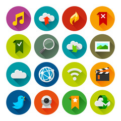 Internet and wedsites icons – Fllate series