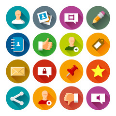 Social Networks icons – Fllate series
