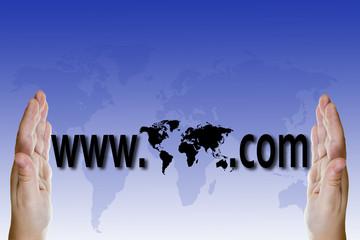 Concepto de negocios, comercio y ventas en internet