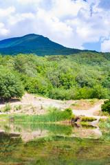 summer view of Crimea lake