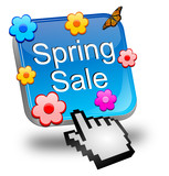 Spring sale button with cursor