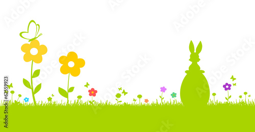 Osterhase in Blumenwiese
