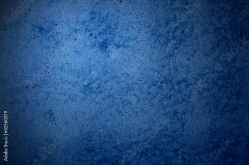 canvas print picture Grunge Hintergrund - Steinwand blau