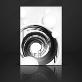 Abstract Background With White Paper Circles.