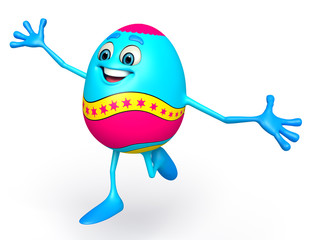 Happy Easter Egg is Dancing