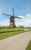 Old windmill in a Dutch polder