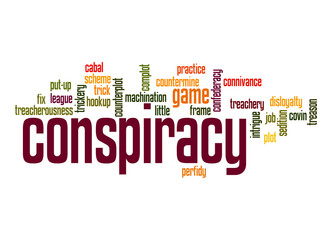 Conspiracy word cloud