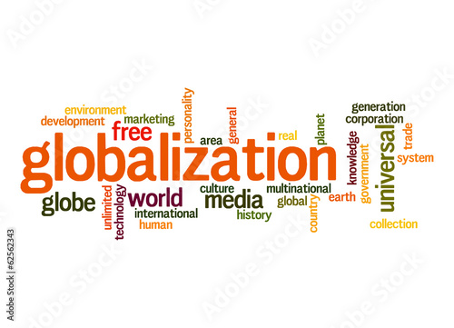 Globalization word cloud