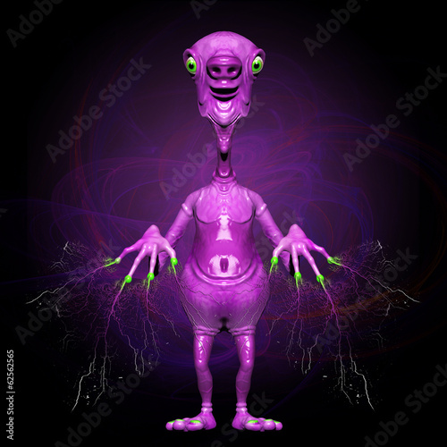 Pink Alien Telepathic Power-3D