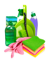 colorful cleaning set