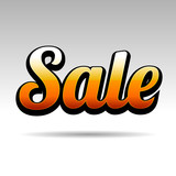 Sale Title for Labels on Light Background. Vector