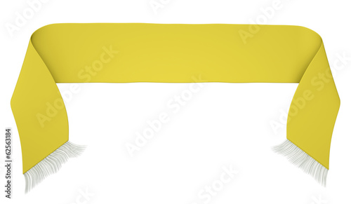 Yellow football scarf, 3D render