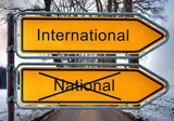 Strassenschild 4 - International