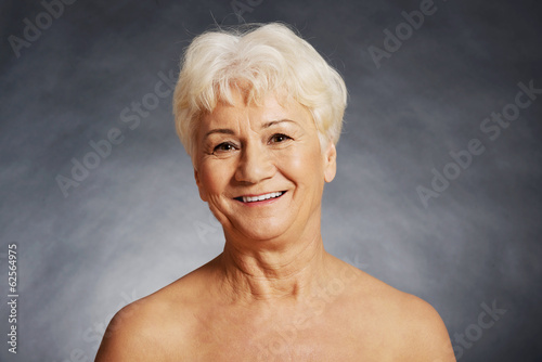 Nude 60 year old spa woman