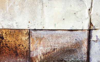 Grungy rusted metal wall detailed background texture