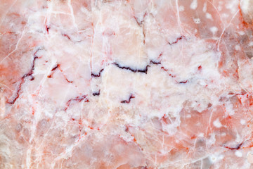 Pink marble slab. Detailed background photo texture
