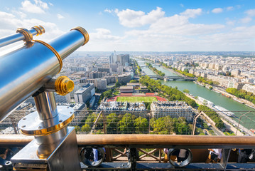 The viewpoint in the Eiffel Tower in Paris