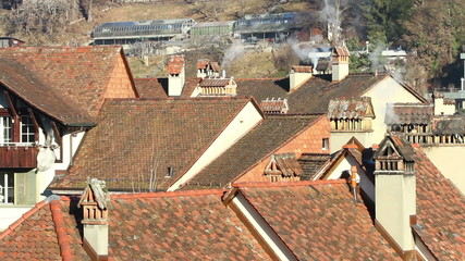 Roofs and chimneys in Bern