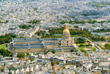 View of Les Invalides from the Eiffel Tower in Paris