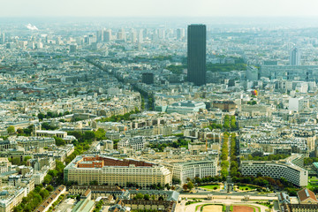 View of Paris with Montparnasse Tower