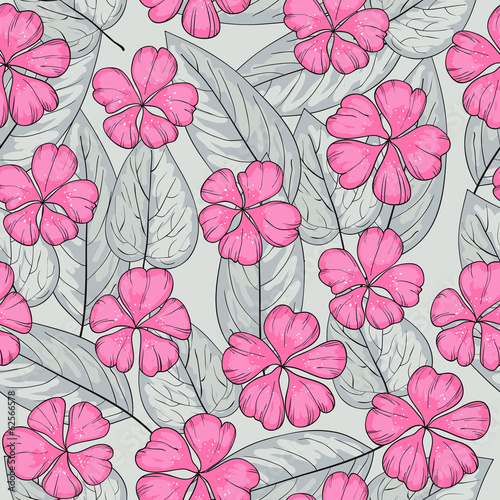 Seamless texture with pink flower