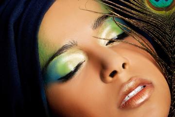 Beautiful woman with  professional make-up