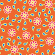 seamless background Floral pattern with paisley