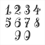 Vector Set of Vintage Numbers