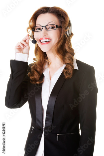 Call center woman.