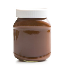 chocolate spread in jar