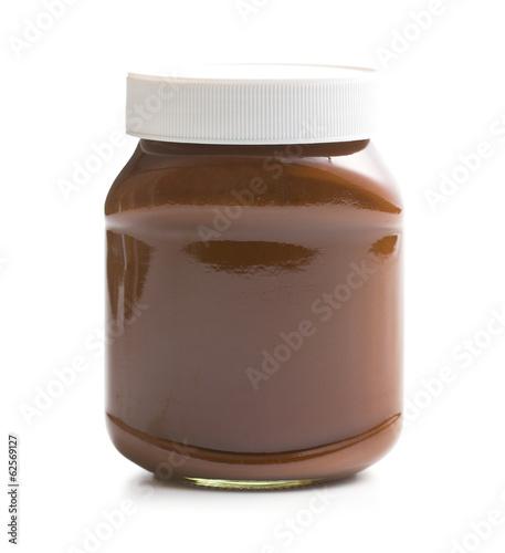 Papiers peints Dessert chocolate spread in jar