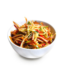 Chinese salad with spicy pig ears and vegetables