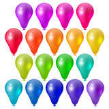 Set a festive bright balloons, festive design elements