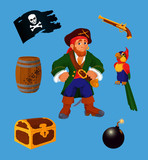 Pirate set - design elements