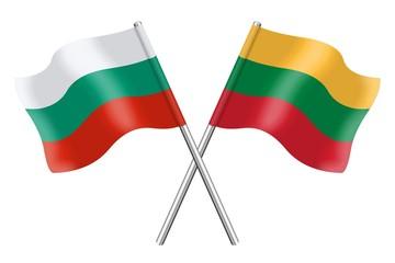 Flags : Bulgaria and Lithuania