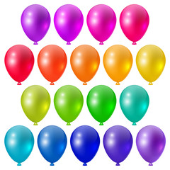 Set a festive bright balloons, festive design elements