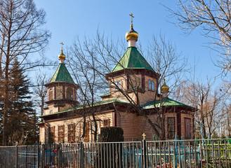 St. Nicholas church (1912). Malyshevo, Russia