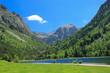 Amazing view of Lake Llebreta in Aiguestortes National Park