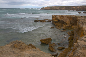 HDR Image - Limestone Rocks on Warrnambool Coast, Australia