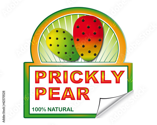 Prickly pear's label for marketplace