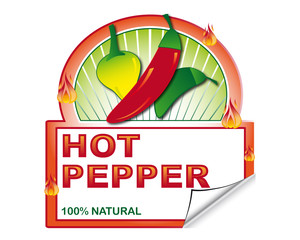 Hot pepper's label for marketplace