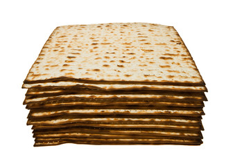 Stack of Matzoth traditional Jewish Passover bread