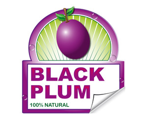 Black plum's label for marketplace