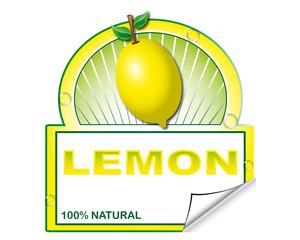 Lemon's label for marketplace