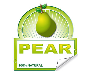Pear's label for marketplace