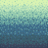 Abstract blue circles background in pixel art style