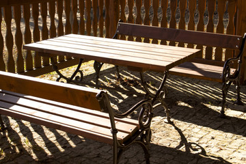wooden seat for sometime rest